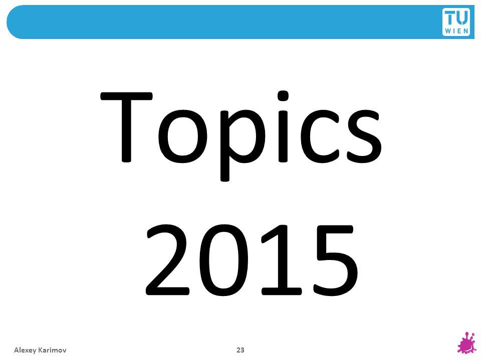 Topics 2015 Alexey Karimov 23
