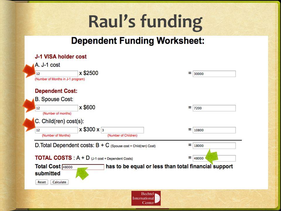 Raul's funding