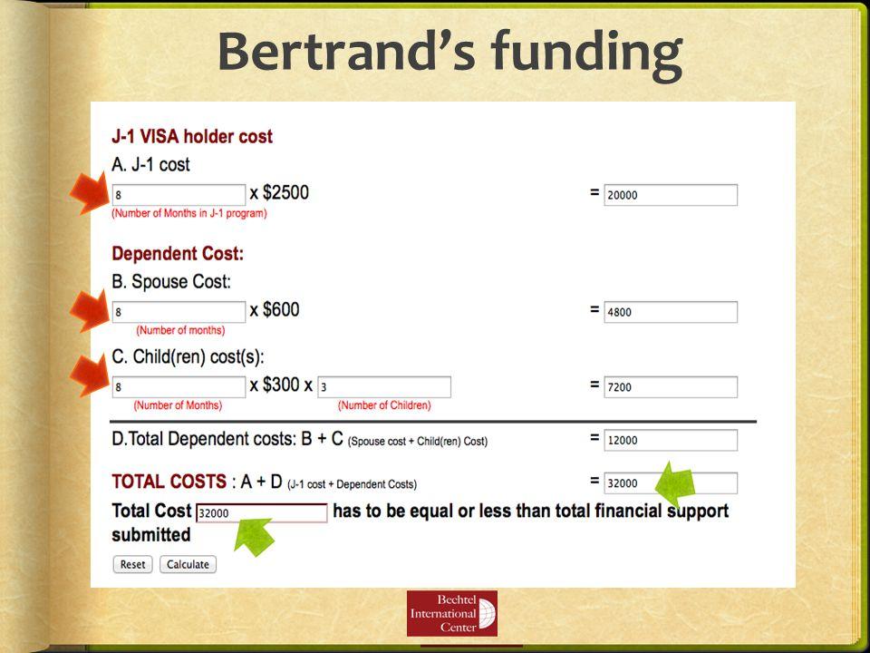 Bertrand's funding