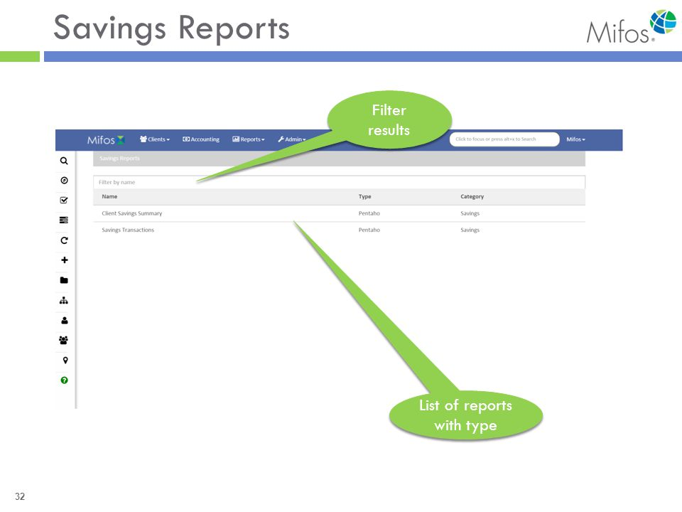 32 Savings Reports Filter results List of reports with type
