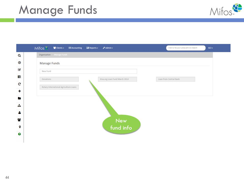 44 Manage Funds New fund info