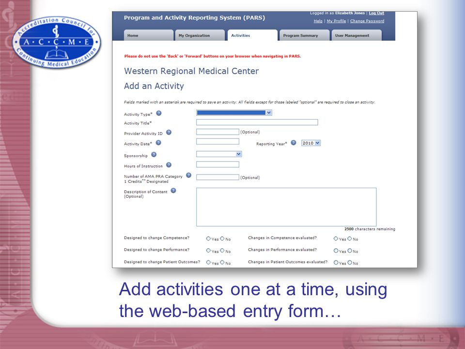 Or batch upload activities using tab-delimited or XML upload options.