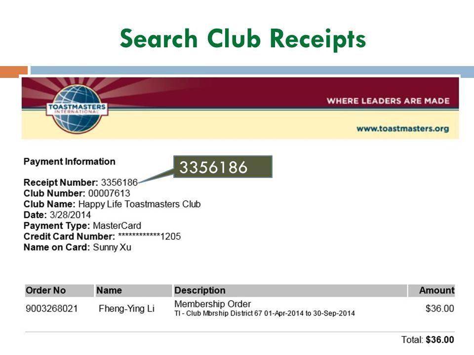 Search Club Receipts 3356186