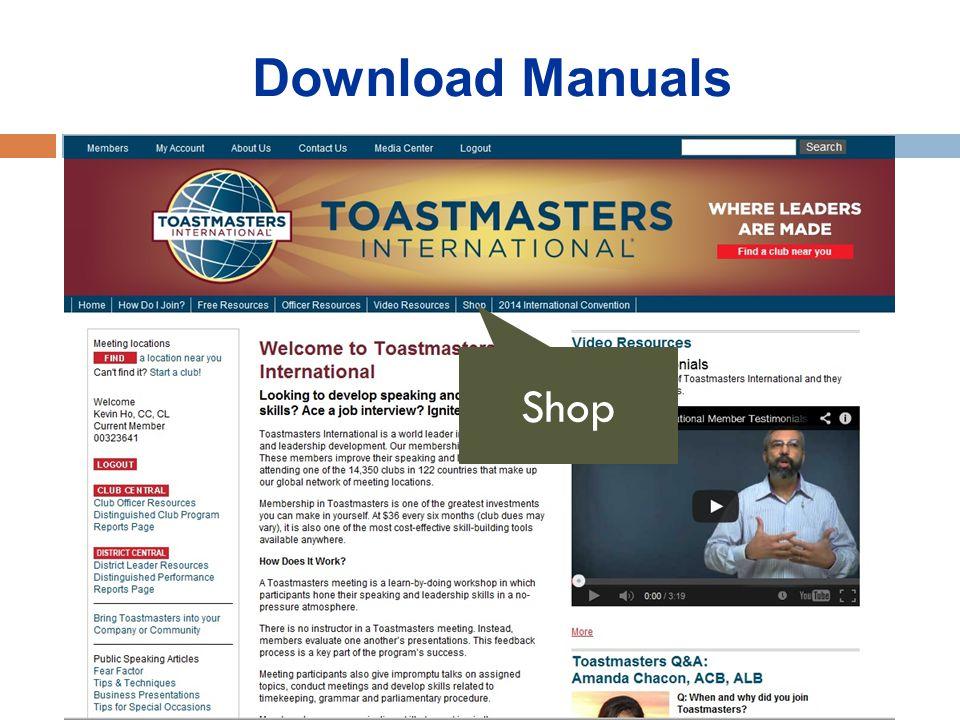 Download Manuals Shop