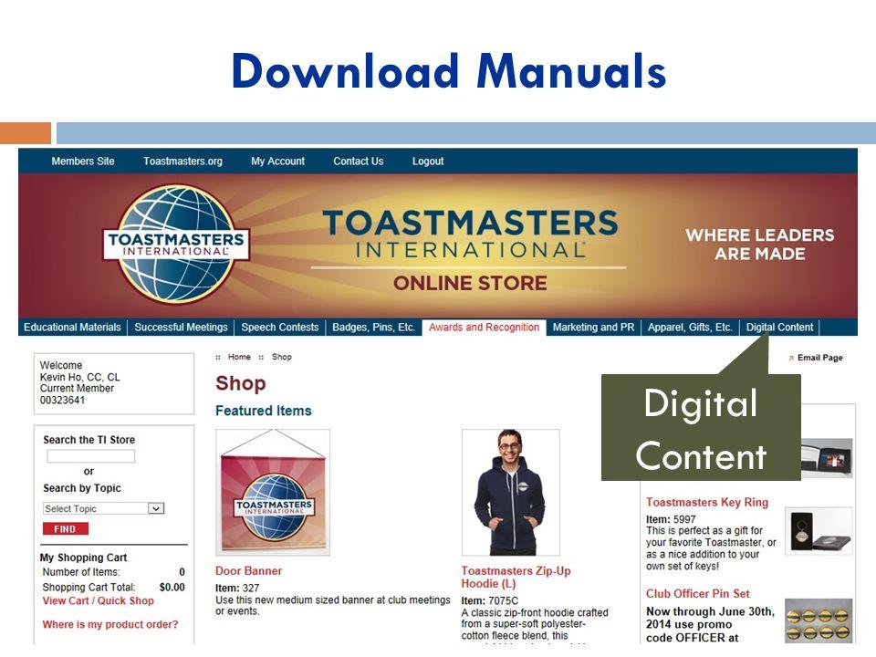 Download Manuals Digital Content