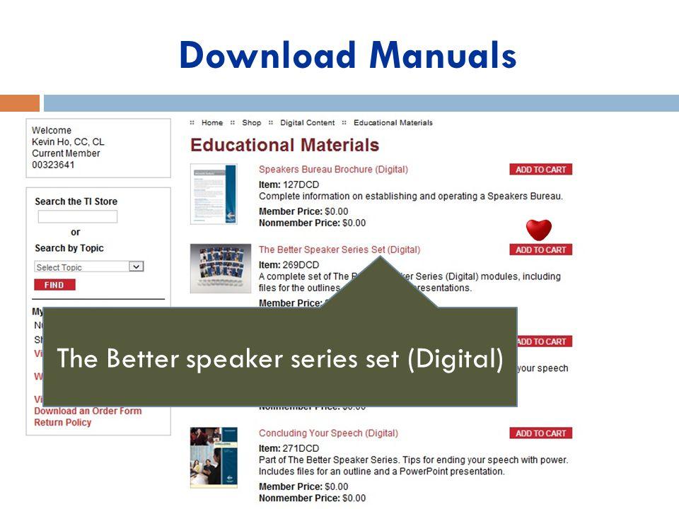 The Better speaker series set (Digital)