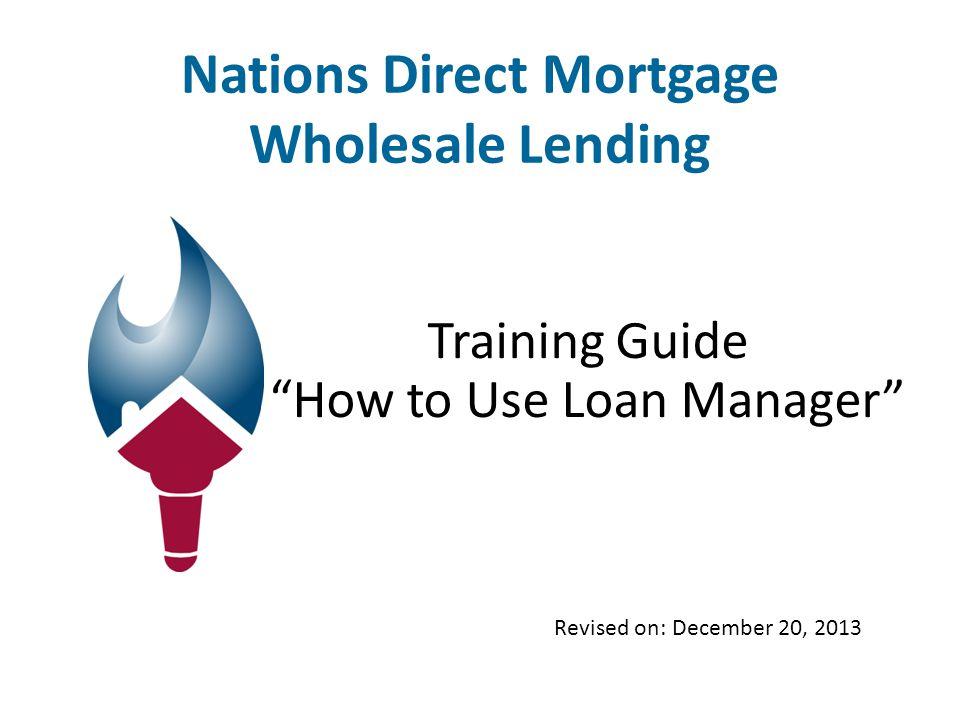 www.MYNDM.com Nations Direct Mortgage Main Landing Page