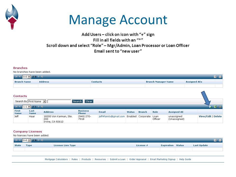 View Pipeline Click View/Edit to enter loan Don't check mark the box on the left Link to new loan – click + Don't Check Mark