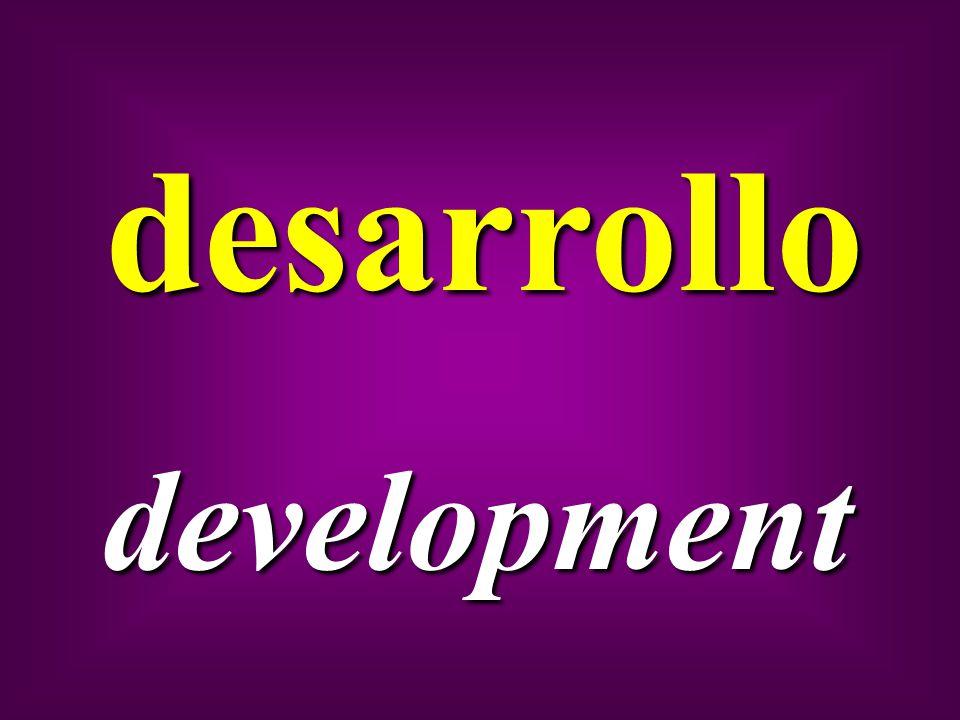 desarrollo development