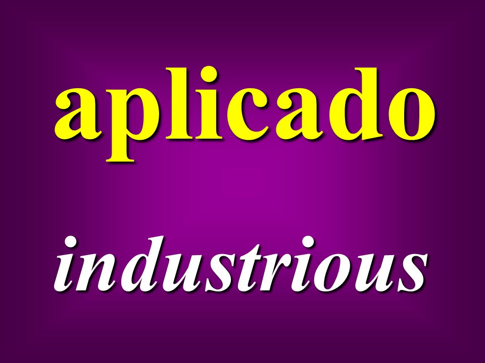 aplicado industrious
