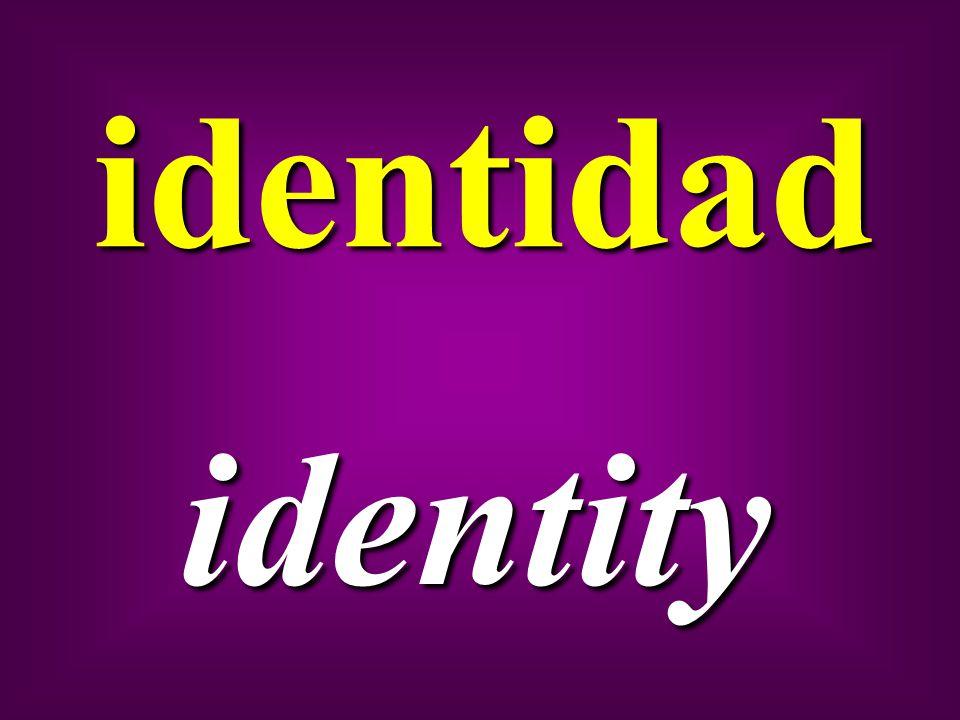 identidad identity