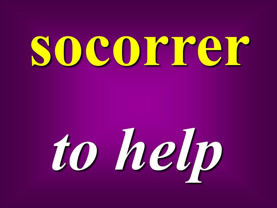 socorrer to help