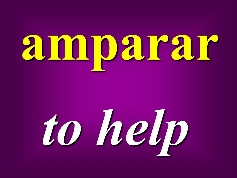 amparar to help