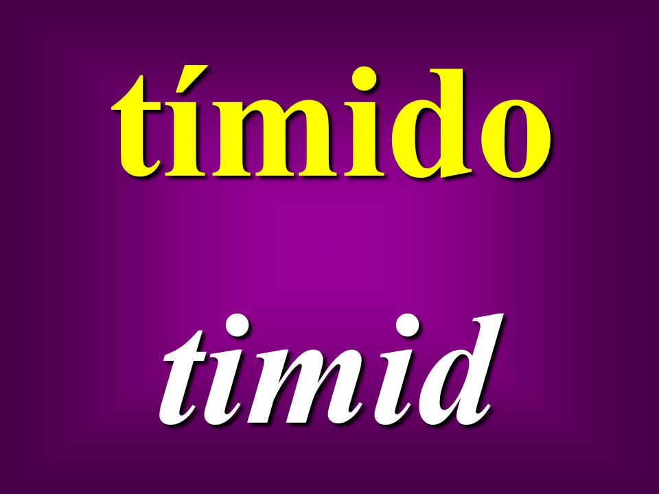 tímido timid