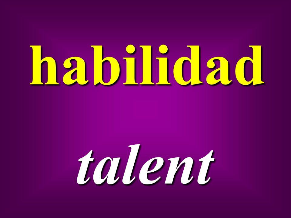 habilidad talent