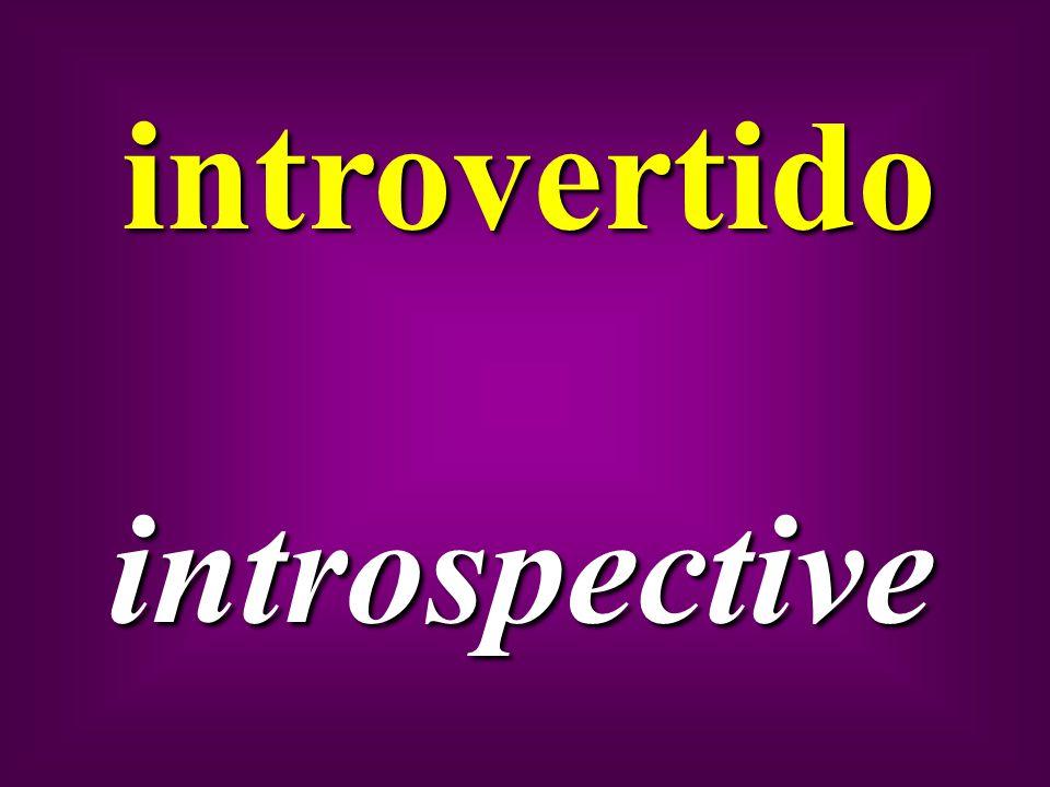 introvertido introspective
