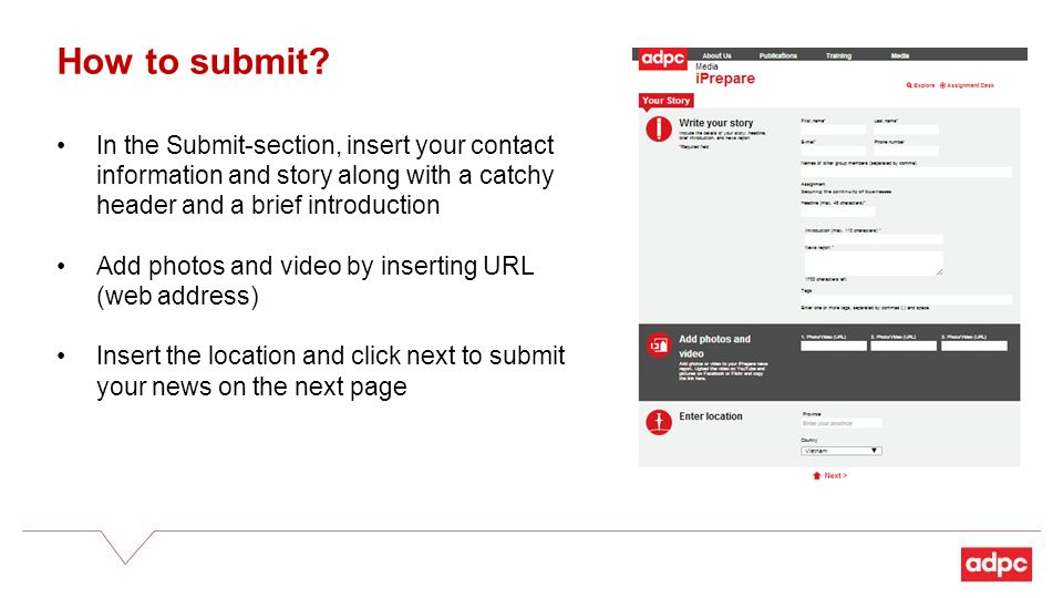 How to submit.