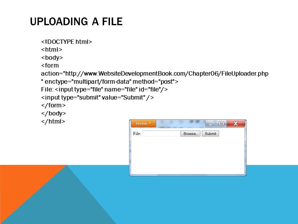 UPLOADING A FILE File: