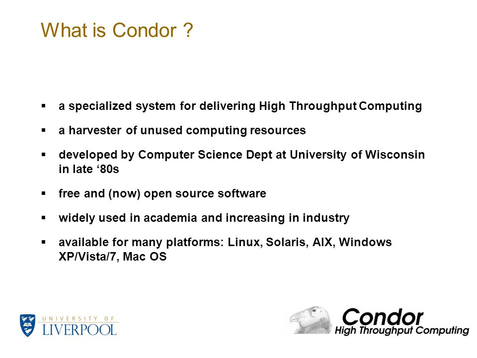 What is Condor .