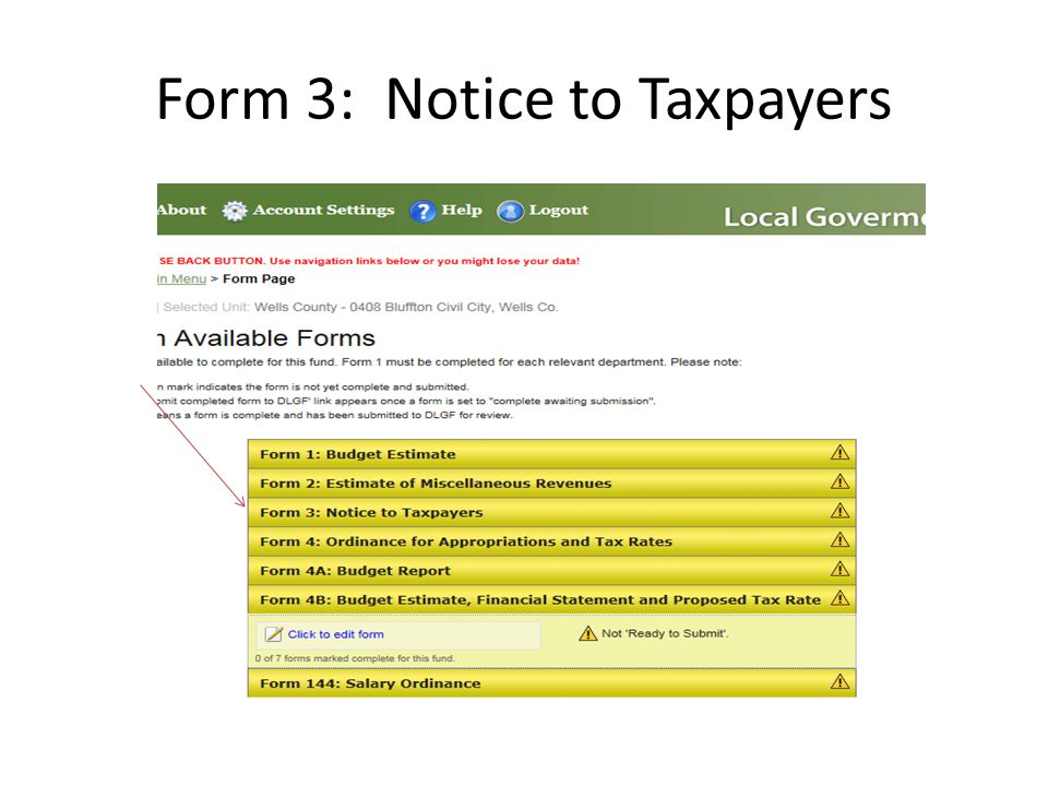 Form 3: Notice to Taxpayers