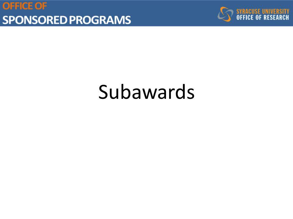 Subawards