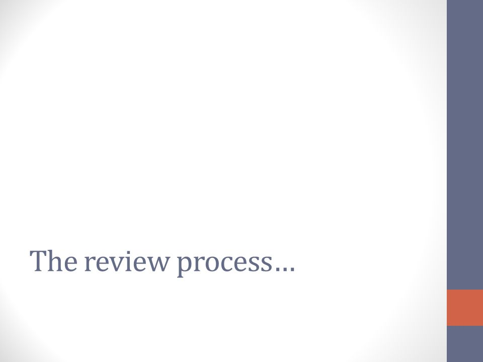 The review process…