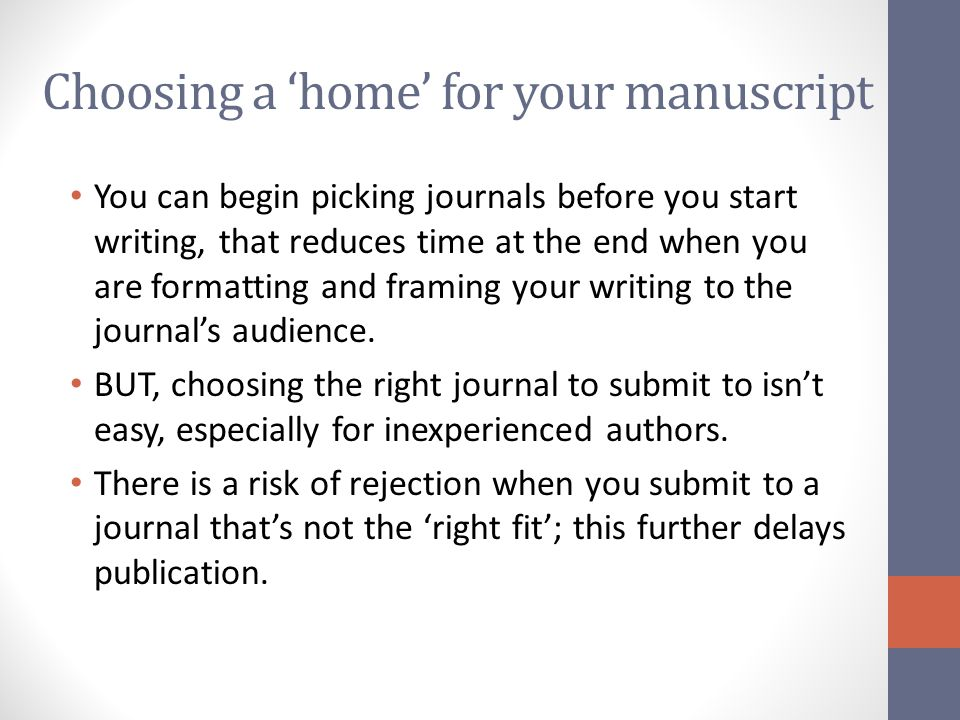 How do I choose a journal.Look at your bibliography.