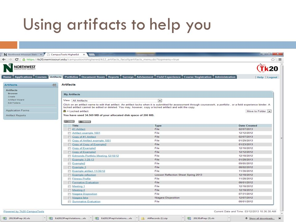 Using artifacts to help you