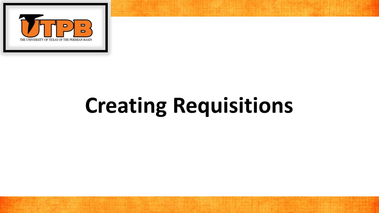 Before we get started with creating a requisition, we need to find some information about our budget.
