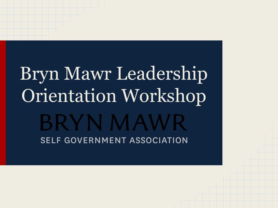 Bryn Mawr Leadership Orientation Workshop