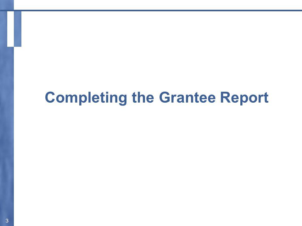 Validate Your Grantee Report 14