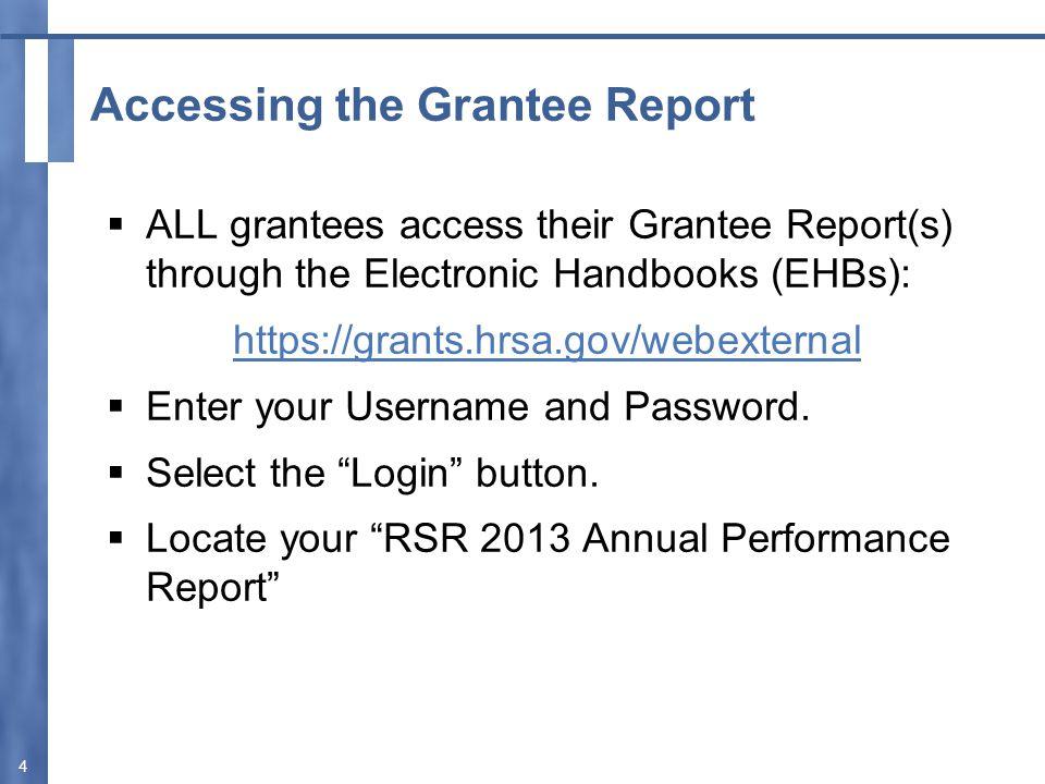 Certify Your Grantee Report 15