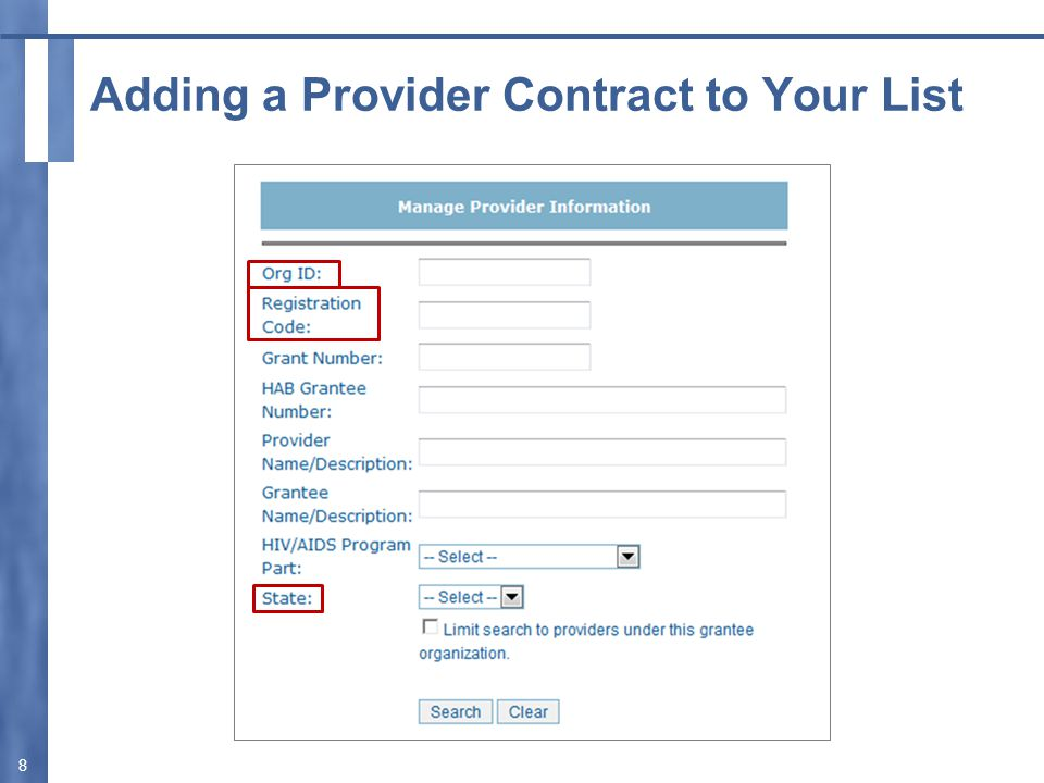 Submit the Provider Report