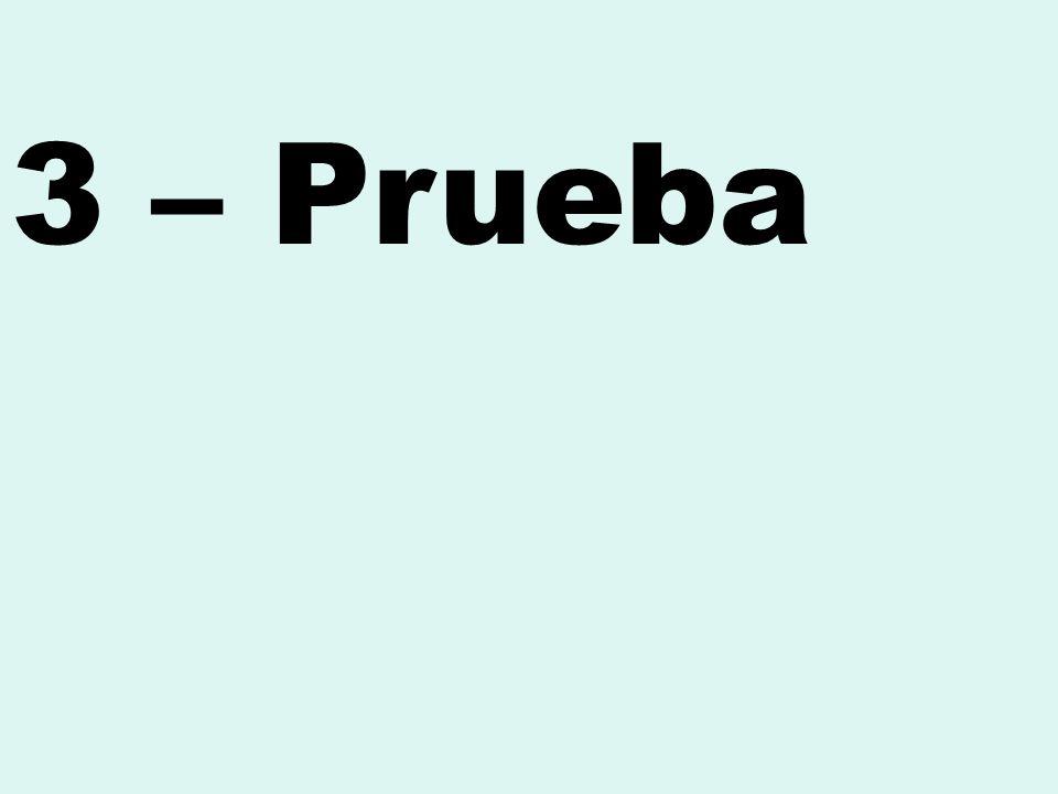 3 – Prueba