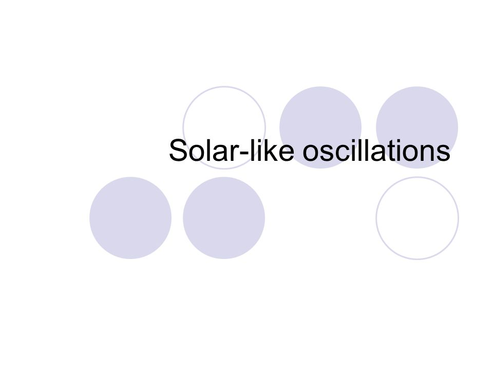 Solar-like oscillations