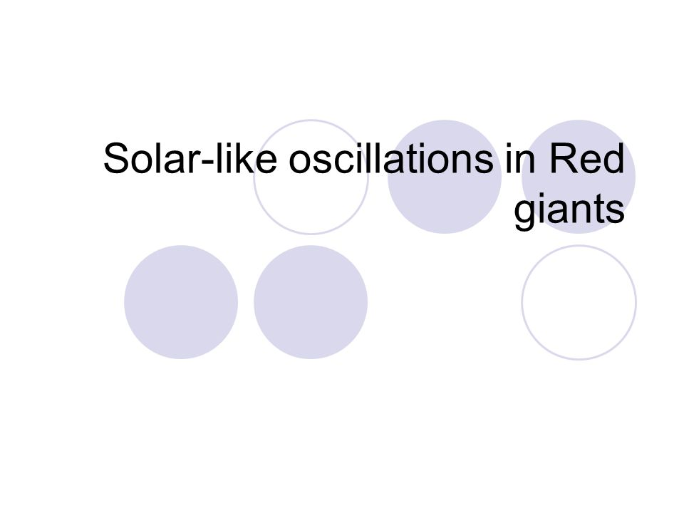 Solar-like oscillations in Red giants