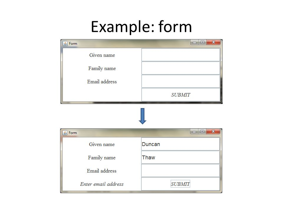 Example: form
