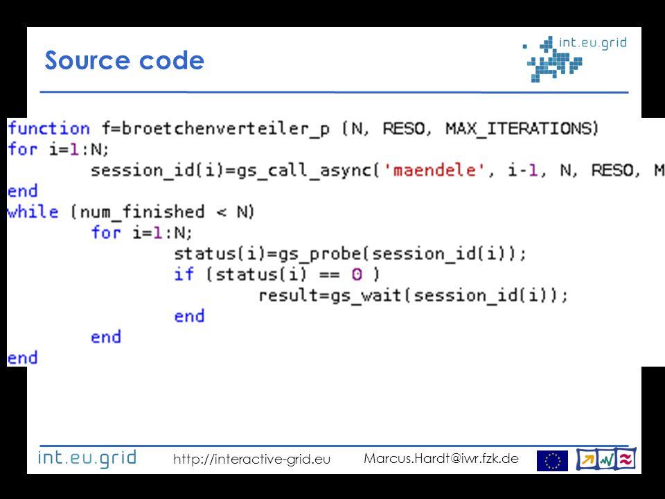 http://interactive-grid.eu Marcus.Hardt@iwr.fzk.de Source code