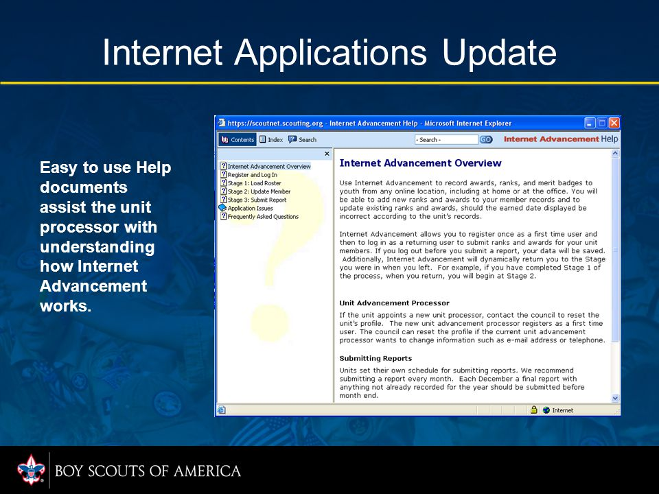 Internet Applications Update Each individual report lists ranks, badges, and awards with summary totals.