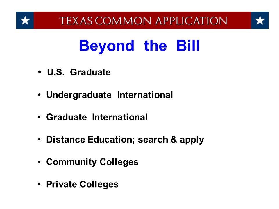 U.S. Graduate Undergraduate International Graduate International Distance Education; search & apply Community Colleges Private Colleges Beyond the Bil