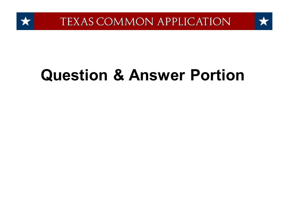 Question & Answer Portion