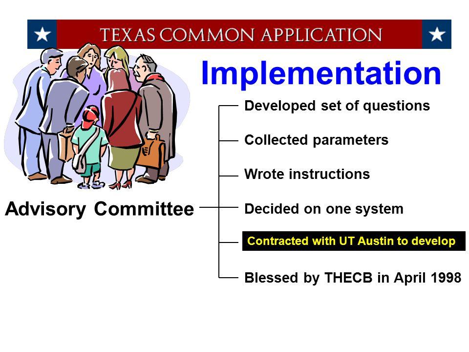 Demo of www. applytexas.org
