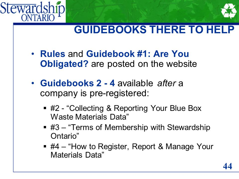Rules and Guidebook #1: Are You Obligated.