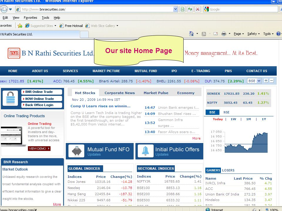 Click on Online Trade