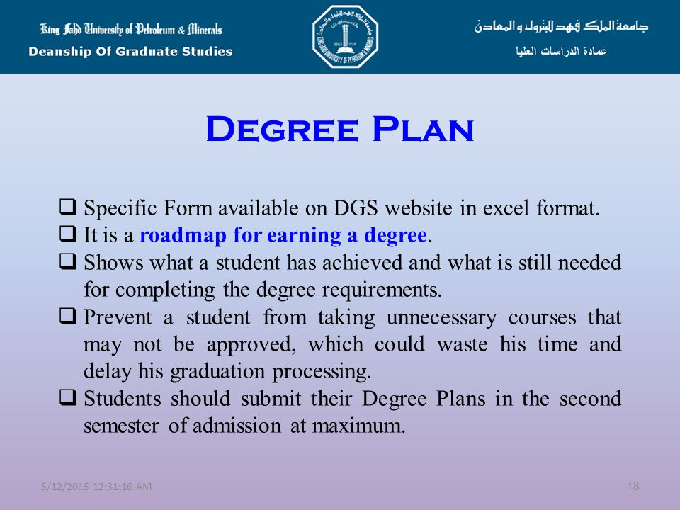 Pre-Graduate Program  It is a special program for students with weak achievements in their BS degrees.