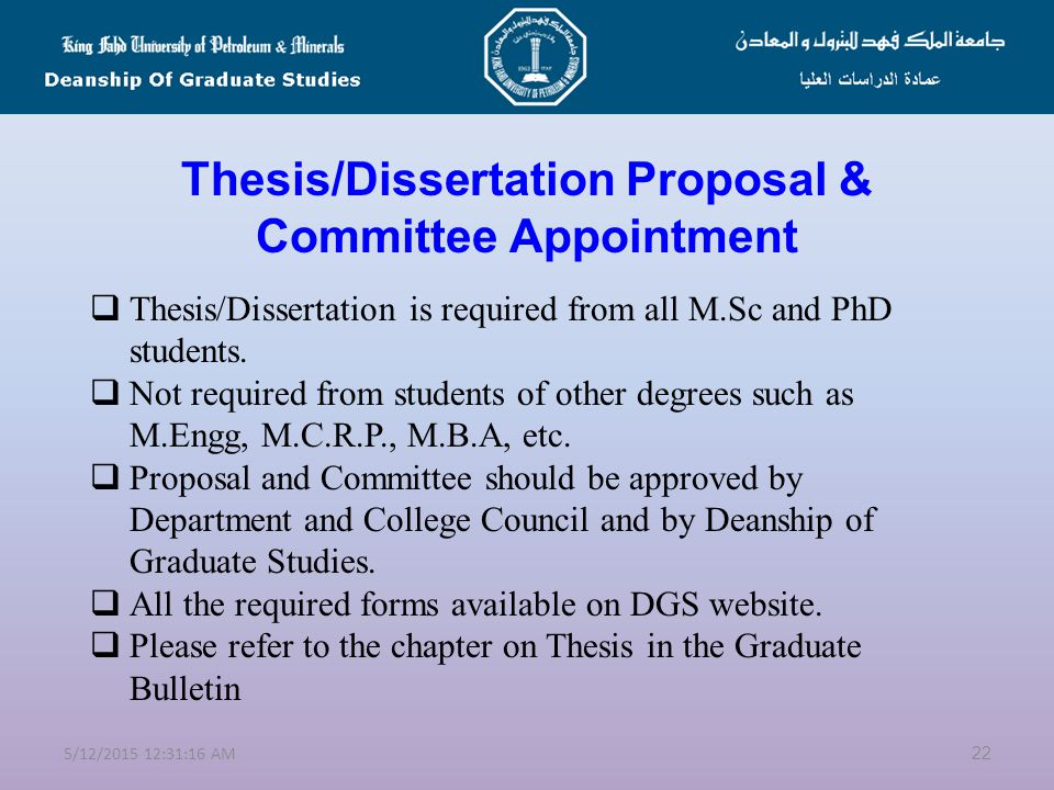 Starting your Thesis Research  Start deciding on your thesis supervisor and initial topic as early as possible (NEVER delay it until you finish your coursework).