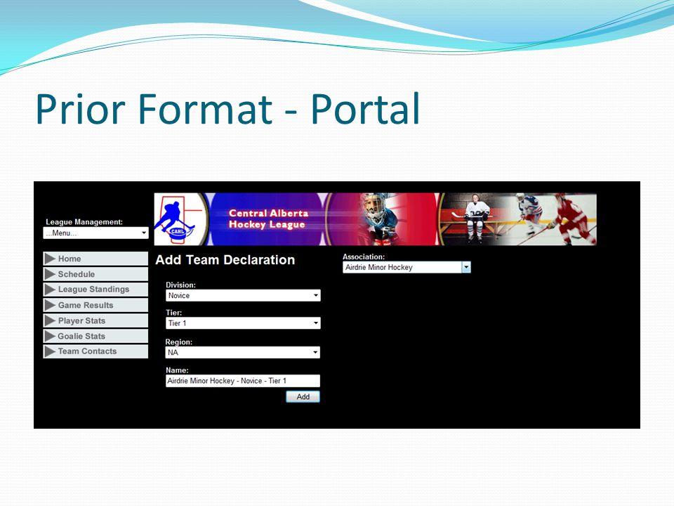 Prior Format - Portal