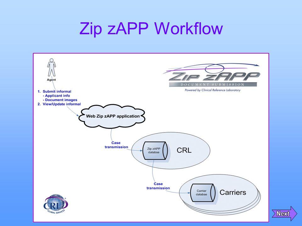 Zip zAPP Workflow