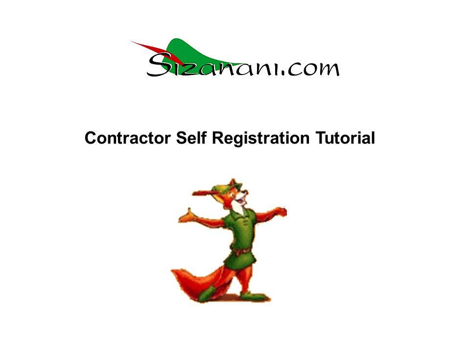 Contractor Self Registration Tutorial