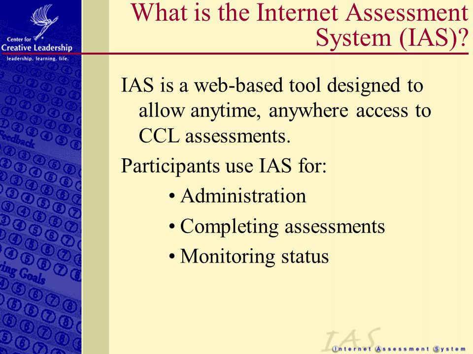 How do Participants Access IAS.